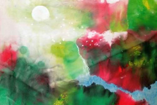 蔡丰名博士所绘之图《六盘山的黎明》,是穿越八百年历史的一声长叹!